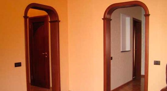 Квадратные арки в коридоре