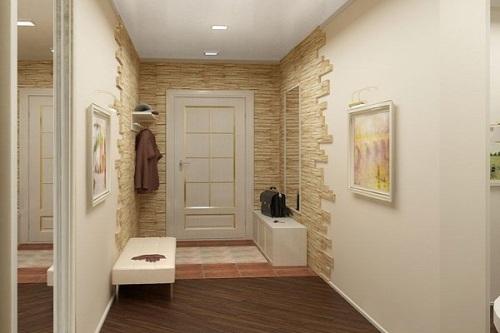 картины на стенах в прихожей гармонично вписываются в интерьер