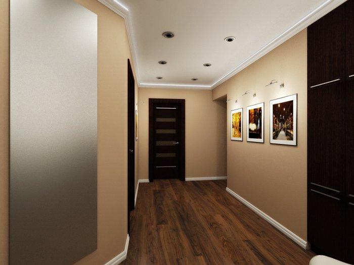 картины с подсветкой в коридоре