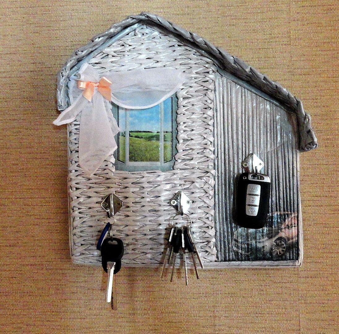 Ключница своими руками из подручных материалов фото