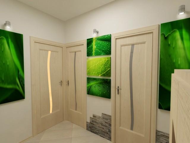 модульные атмосферные картины в коридоре