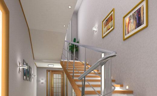 размещение картин вдоль лестницы