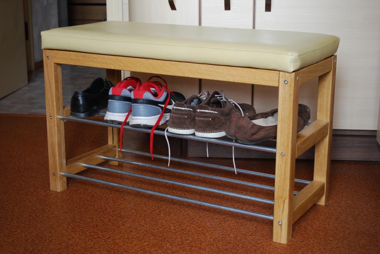 стеллаж для обуви со скамейкой