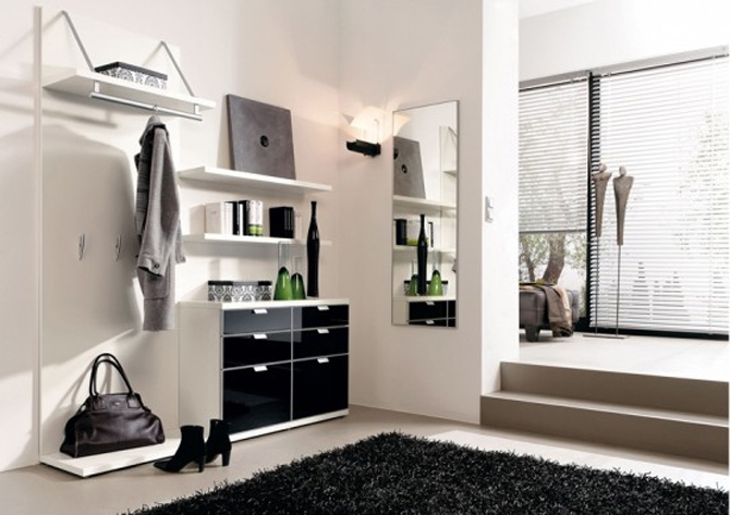 Черно белый комод в дизайне интерьера