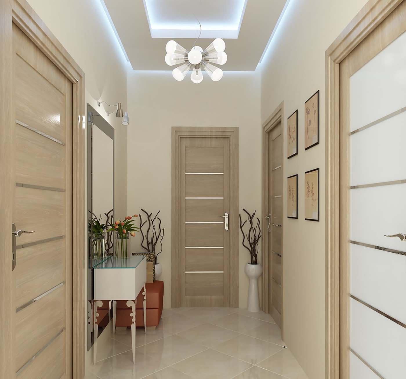 Дизайн интерьер коридора фото