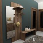 Дизайн маленького-коридора с темным оформлением стен