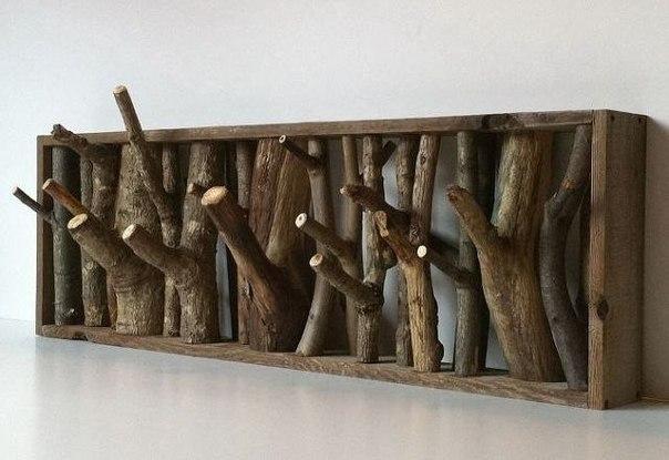 Эко вешалка из дерева