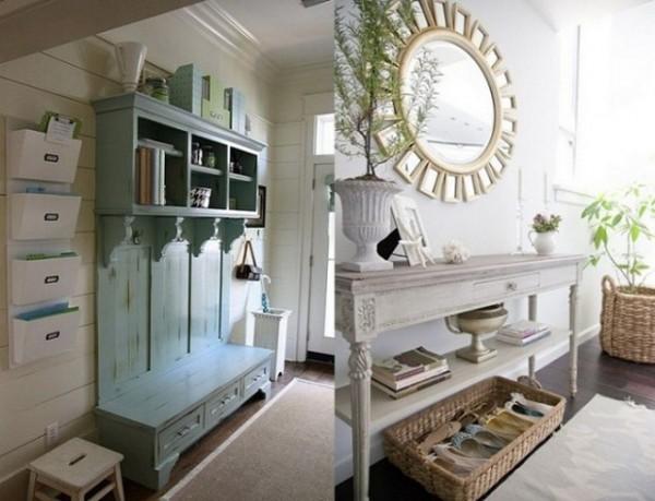 Фото мебели для прихожей в стиле прованс