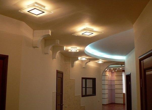 Идея потолка из гипсокартона