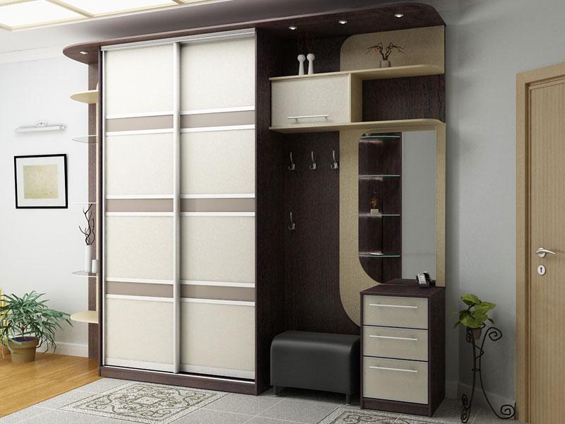 Корпусный шкаф купе в дизайне прихожей