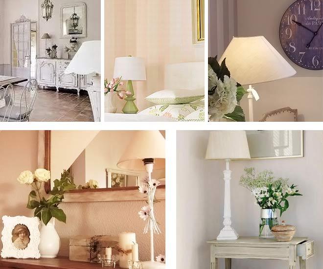Лампы в стиле прованс