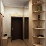 Мебель под заказ в небольшом коридоре