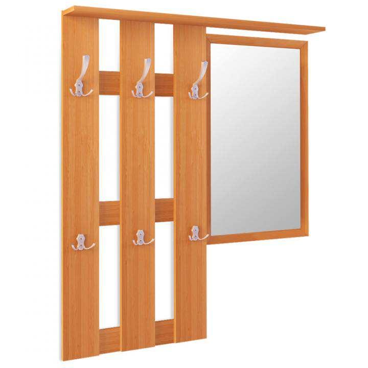 Настенная вешалка с зеркалом