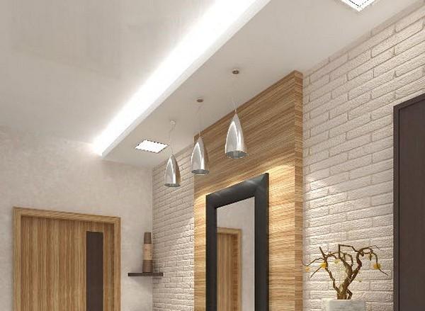 Оформление потолка гипсокартоном с подсветкой