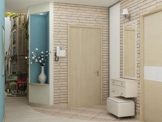 Оформление стен в прихожей в стиле прованс