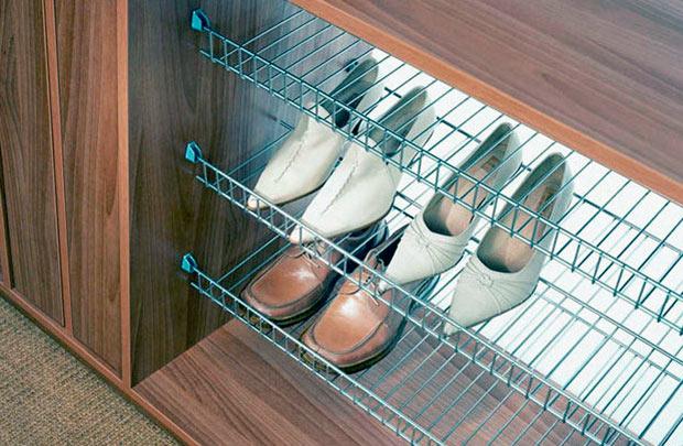 Стационарные полки для обуви