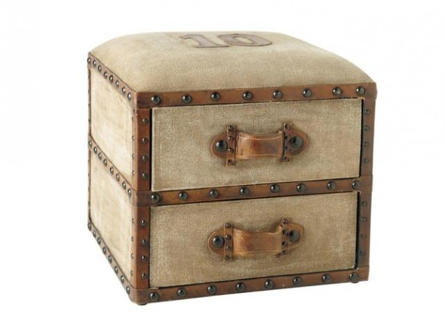 Пуфик с ящиками для прихожей