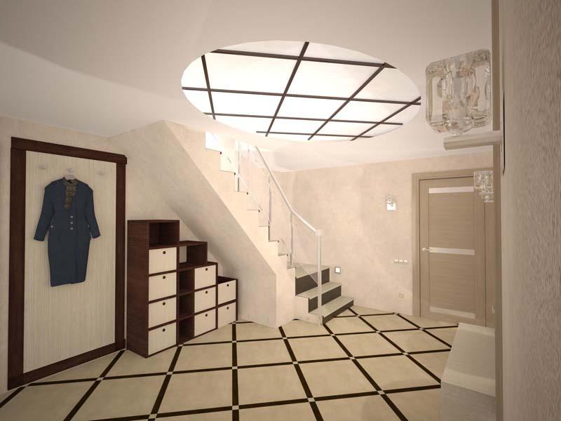 Современный дизайн потолка в частном доме