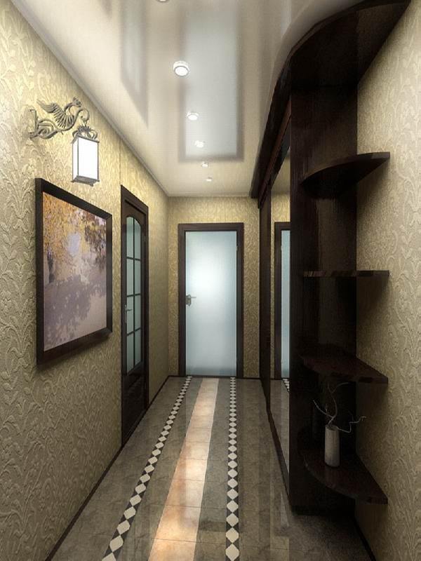 Дизайн длинного и узкого зала