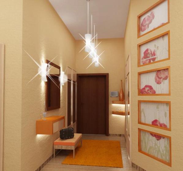 Красивое освещение в коридоре