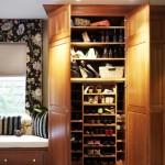 Обувница шкаф в прихожую с высоким потолком