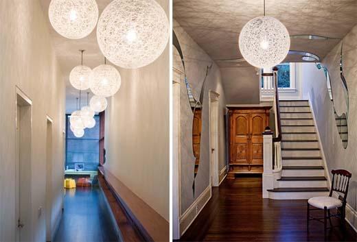Белые светильники для прихожей