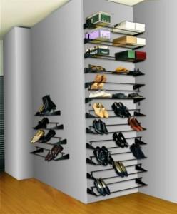 Открытая обувница в прихожую