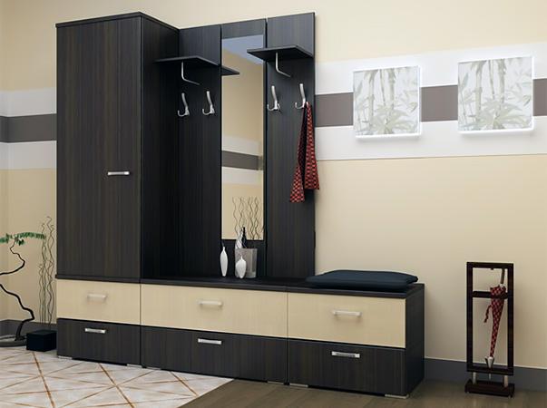 Прихожая черная мебель