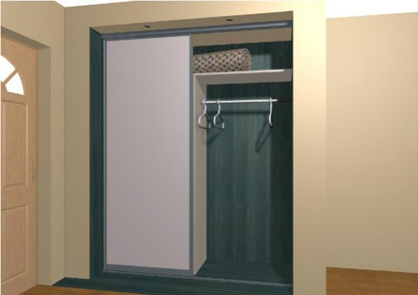 Пример шкафа купе в нише