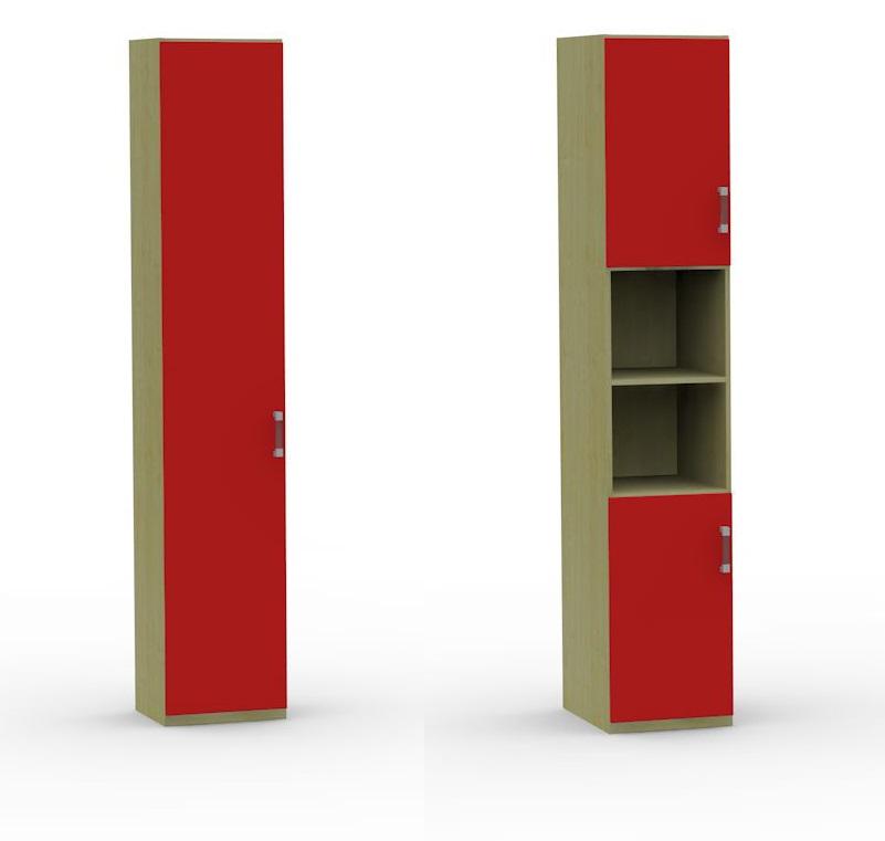 Открытые полки в шкафу-пенале