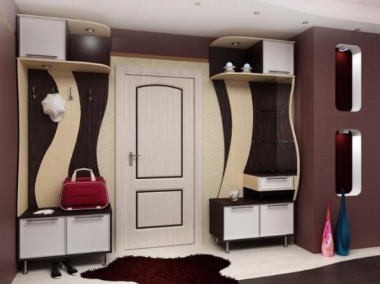 Шкаф в прихожей в современном стиле