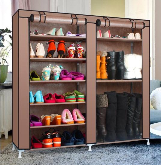 Тканевый шкаф для обуви в прихожую