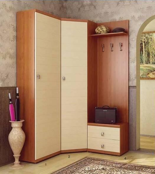 Угловая прихожая для небольшой комнаты