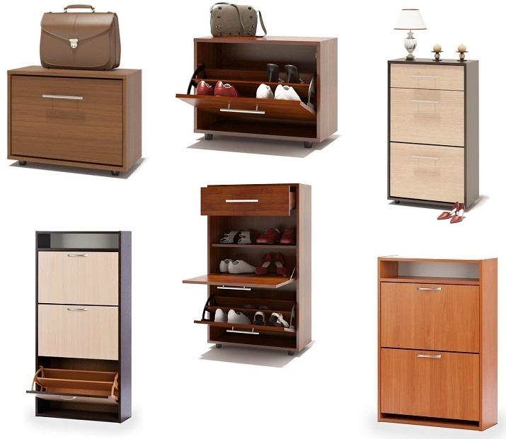 Узкие шкафы для хранения обуви