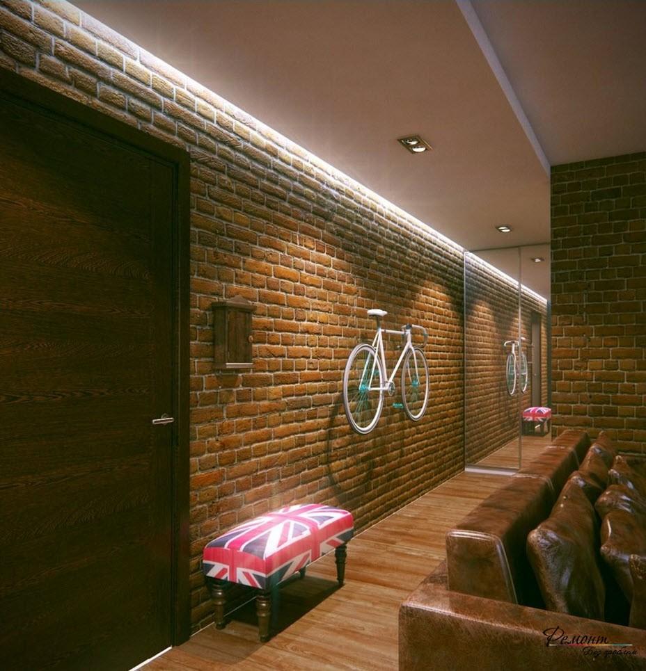В коридоре не стоит выполнять дизайн в мрачных тонах