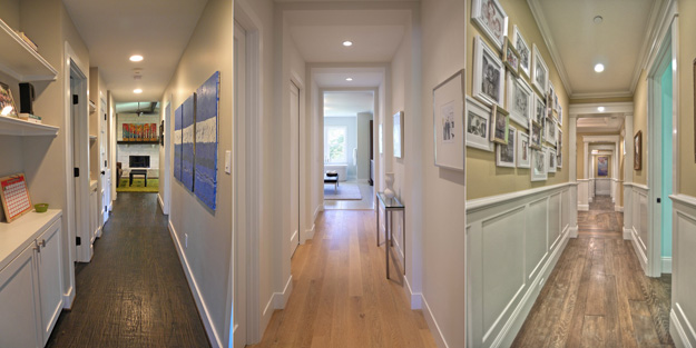 Варианты оформления стен в коридоре
