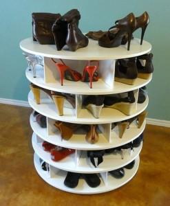 Вращающаяся обувница