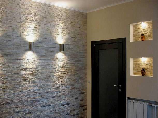 Выравнивание стен декоративным камнем