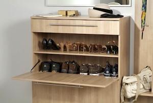 Закрытая обувница для прихожей