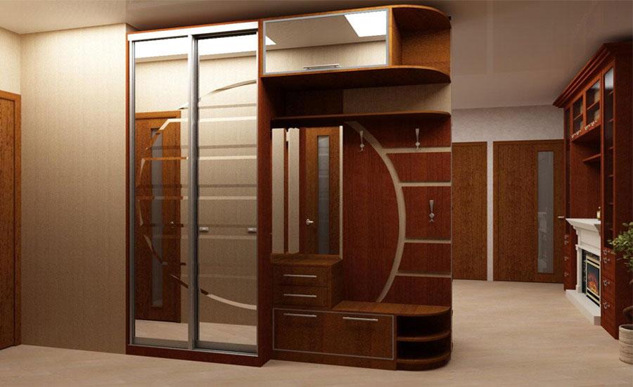 Шкафы купе встроенные в прихожую