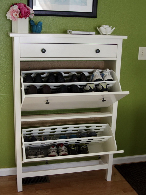 узкий обувной шкаф в маленькую прихожую