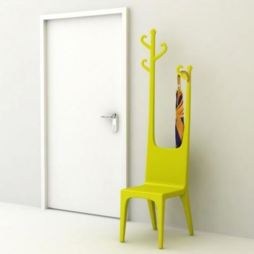 Многофцнкциональная мебель для желтой прихожей