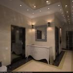 Потолочное освещение для арт-деко стиля в прихожей