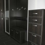 Стиль минимализм в прихожей с черной мебелью