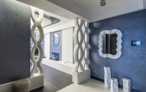 Изогнутый плавные линии стиля модерн для создания элегантной прихожей