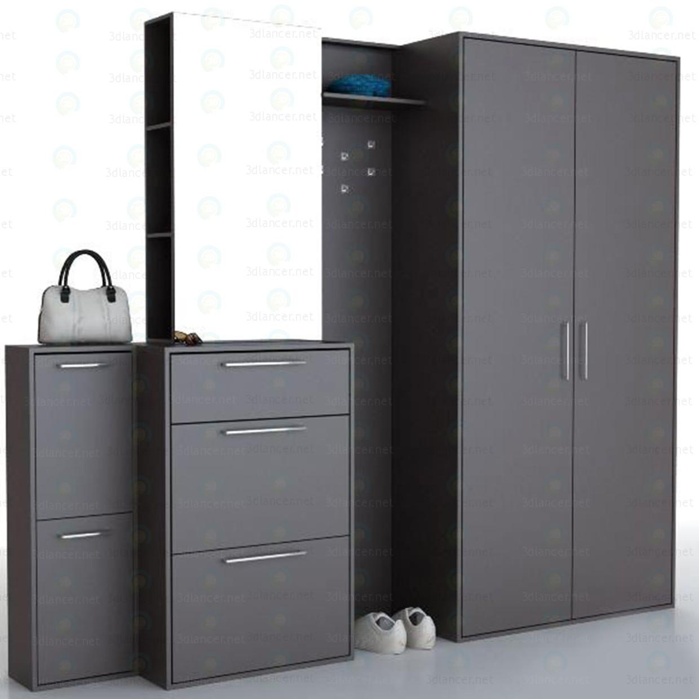Матовая удобная мебель для черной прихожей - все про прихожу.