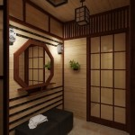 Натуральные светлые тона в создании японского стиля в уютной прихожей