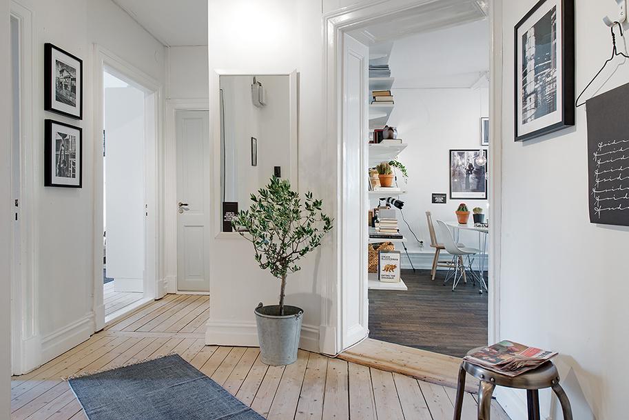 Естественность интерьера прихожей в скандинавском стиле
