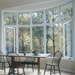 Большие металлопластиковые окна полуокруглой формы