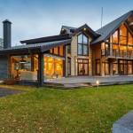 Дизайн деревянного дома из клееного бруса большого размера